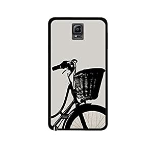 Vibhar printed case back cover for Samsung Galaxy Note 4 HalfBike