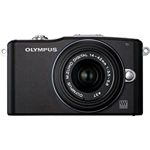 Olympus PEN E-PM1 12.3MP Interchangeable Camera with CMOS Sensor, 3-inch LCD and 14-42mm II Lens (Black)