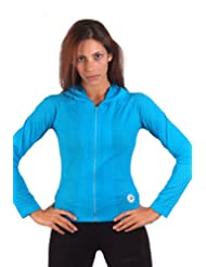 Margarita Activewear Turquoise Mesh Hoodie
