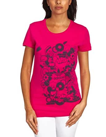 Adidas G Mix Up Printed Women's T-Shirt Cosmo Size 14