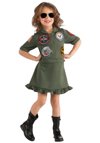 Top Gun Flight Dress Kids Costume