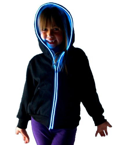 Light Up Hoodies By Electric Styles (7-8 Year Old, Blue)
