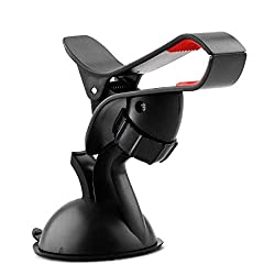 Auto Pearl - Universal Car Windshield Mount Holder Mobile Holder Stand Mobile Phone -Black
