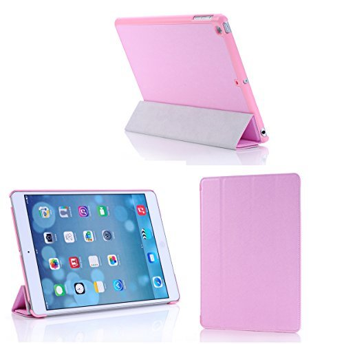 Sheath Ipad Air Multi Angle Smart Case Cover with Auto Sleep and Wake up Feature for New Ipad Air 5th Generation with Retina Display (Smart Cover, Pink) - 1