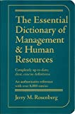 echange, troc Jerry Martin Rosenberg - The Essential Dictionary of Management and Human Resources