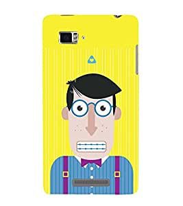ANIMATED CHARACTER WITH ZIPPED LIPS 3D Hard Polycarbonate Designer Back Case Cover for Lenovo Vibe Z K910