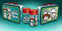 Pez Nurse and Doctor Metal Lunchbox and Thermos