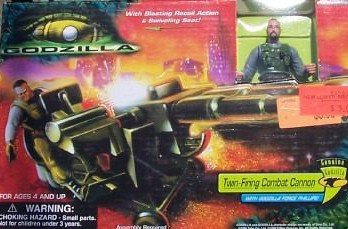 Godzilla Twin-firing Combat Cannon with Figure Playset