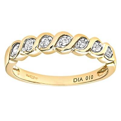 Ariel Women's 9ct Fancy 10pts Diamond Eternity Ring