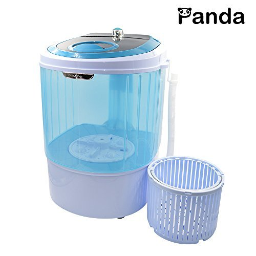 Panda Small Mini Portable Counter Top Compact Washer Washing Machine with Spin Basket 5.5lbs Capacity