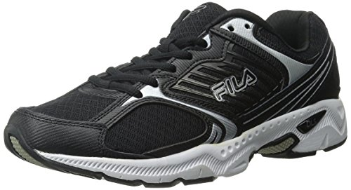 Fila Men's Interstellar 2 Running Shoe,Black/Black/Metallic Silver,9 M US