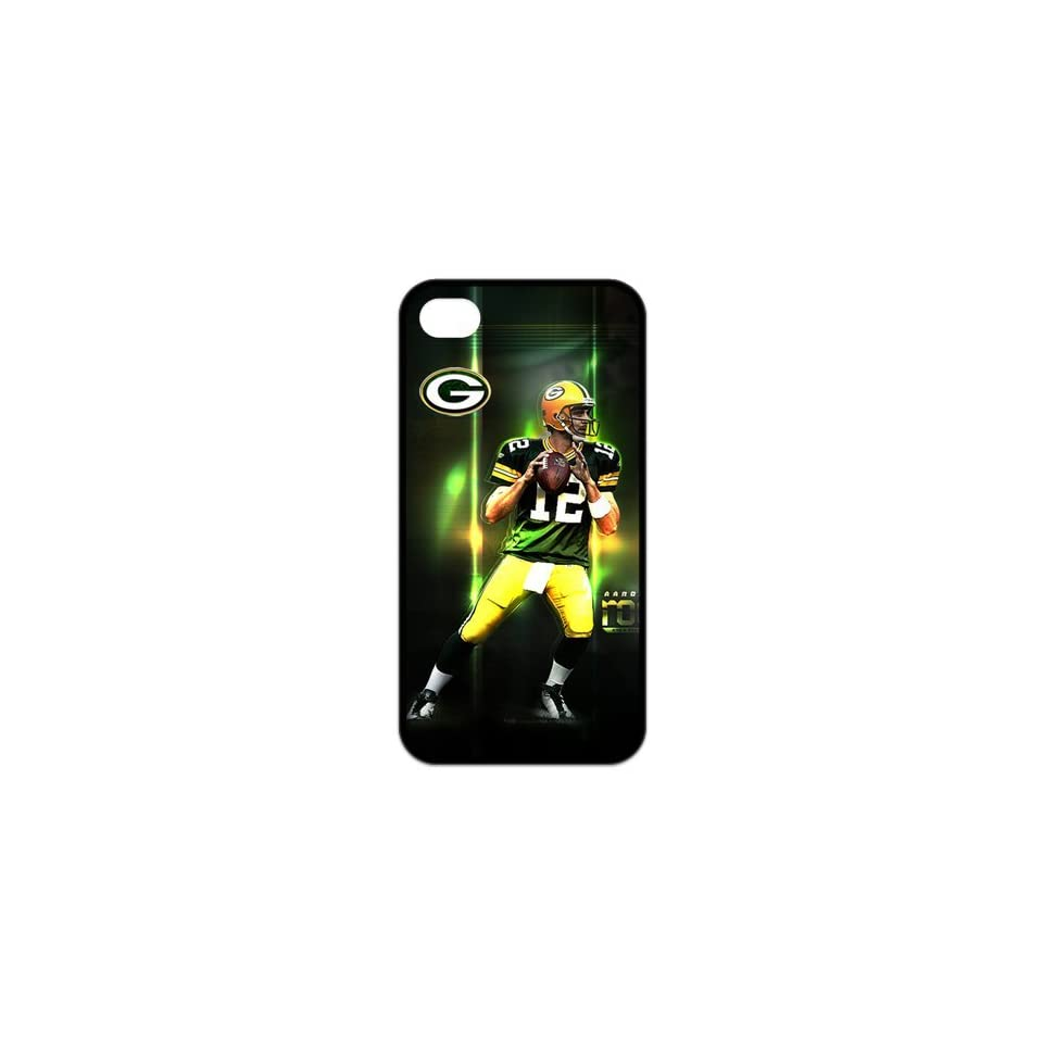 NFL Green Bay Packers Aaron Rodgers Treasure Design APPLE IPHONE 4/4s Best Silicone Cover Case