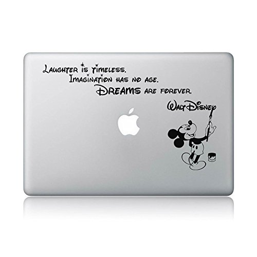 Disney Quote Macbook Laptop Decal Vinyl Sticker Apple Mac Air Pro Laptop Sticker