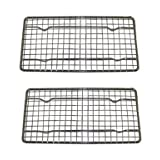Heavy-Duty Cooling Rack Cooling Racks Wire Pan Grade Commercial Grade Oven-safe Chrome 4 X 8 Inches Set Of 2