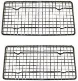 Heavy-Duty Cooling Rack, Cooling Racks, Wire Pan Grade, Commercial grade, Oven-safe, Chrome, 4¼ x 8⅛ Inches, Set of 2