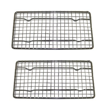 Heavy-Duty Cooling Rack, Cooling Racks, Wire Pan Grade, Commercial grade, Oven-safe, Chrome, 4¼ x 8⅛ Inches, Set of 2 (Oven Rack Small compare prices)