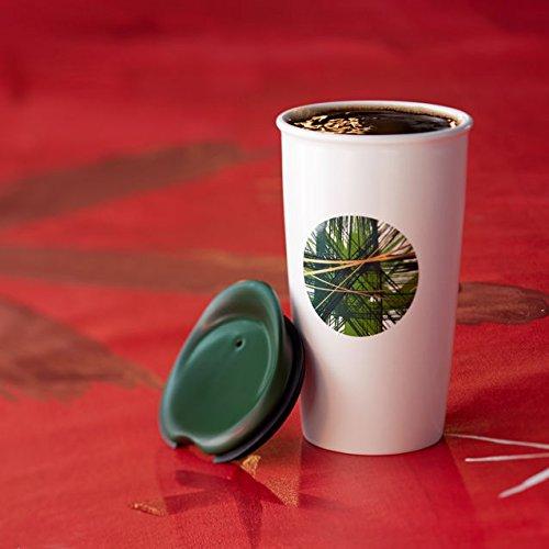 Starbucks Double Wall Traveler - Graphic Green Dot, 12 Fl Oz (11041011)