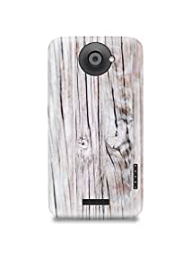 White Wooden HTC One X Case