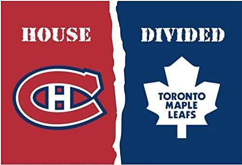 Montreal Canadiens Toronto Maple Leafs House Divided Flag 3ft x 5ft