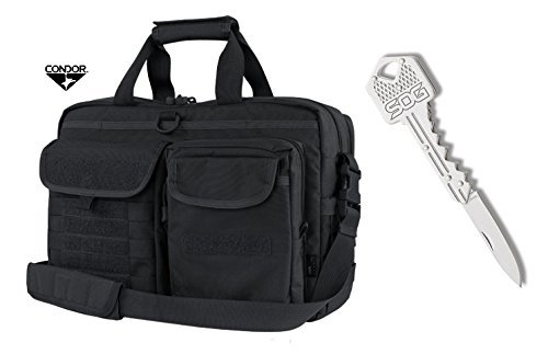 Condor Metropolis Briefcase (Black) + FREE SOG Key Knife