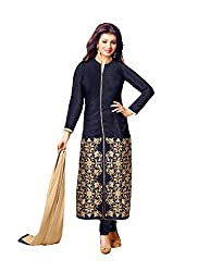 Style Amaze Bhagalpuri Black Dress Material