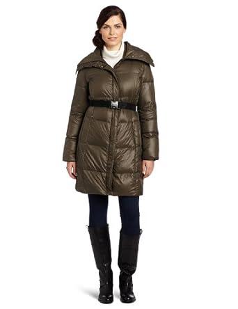 (历史最低)Calvin Klein Women's Belted Down女款中长款羽绒服$119.99
