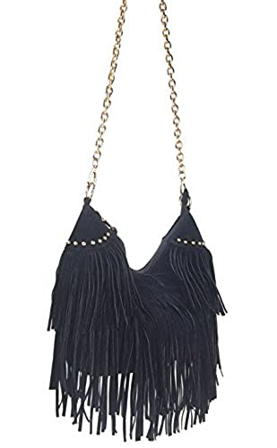 10. Hoxis Topfashion Tassel Faux Suede Leather Hobo Cross Body Shoulder Bag Womens Skatchel