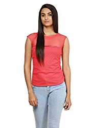 Mayra Women's Net Top (1604T09395_XL Pink )
