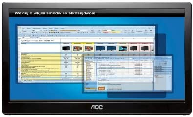 AOC 15.6インチ USB接続モニター ( 1366x768 / 8ms / TN / ノングレア ) 2AAA5-59S03-T00R