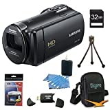 Samsung HMX-F80 Flash Memory HD Digital Video Camcorder (Black) 32gb Deluxe Bundle