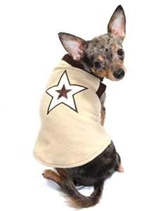 Hip Doggie Tan Star Sweater Vest, Big Dog X-Small