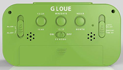 gloue digital alarm clock battery operated kids 39 room clock temperature display snooze and. Black Bedroom Furniture Sets. Home Design Ideas