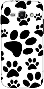 Snoogg Dog Stamps Hard Back Case Cover Shield For Samsung Galaxy Ace 3