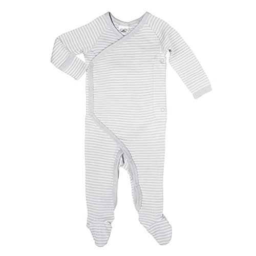 Cashew Kidswear Organic Cotton Footie Footed Sleeper Pajama (Newborn - 3 Months, Grey)