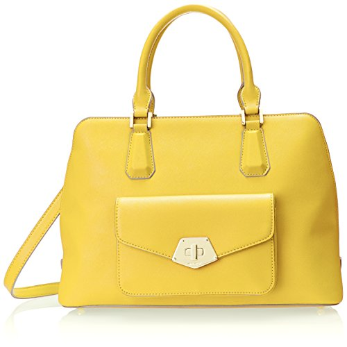 Nine West Rock and Lock Satchel Top Handle Bag, Lightmaize, One Size