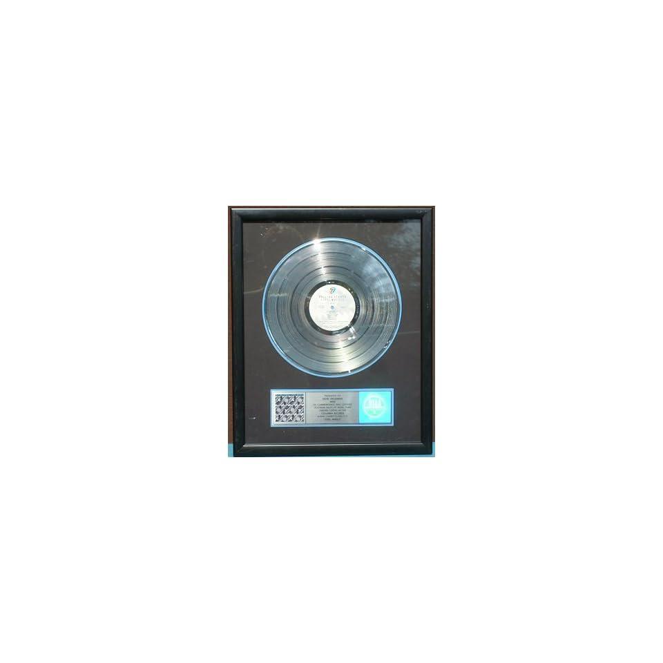 Authentic Rolling Stones Steel Wheels RIAA Platinum Record Award