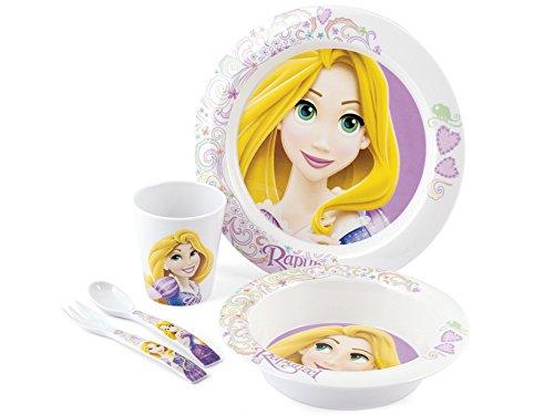 disney-rapunzel-set-da-tavola-per-bimbo-melamina-multicolore-5-pezzi