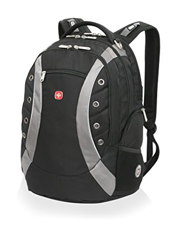 SwissGear SA1191 Black with Grey Computer Backpack - Fits Most 15 Inch Laptops and Tablets