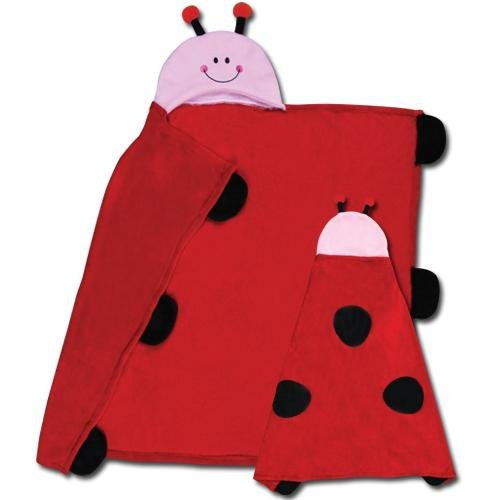 Stephen Joseph Kids Hooded Blanket - Ladybug front-900428