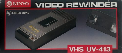 Learn More About KINYO UV-413 1-Way VHS Video Cassette Rewinder