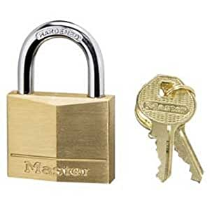 Master Lock 140D Solid Brass Keyed Different Padlock with 1-9/16-Inch Wide Body, 1/4-Inch Shackle