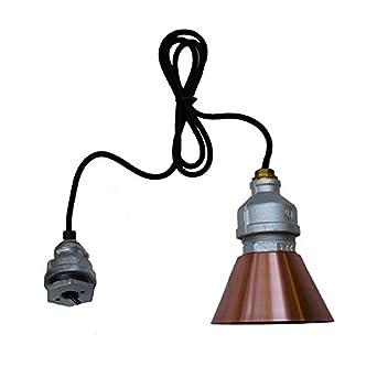 purelume industrial droplight pendelampe h ngelampe mit edison nostalgie 40w gl hbirne dee583. Black Bedroom Furniture Sets. Home Design Ideas