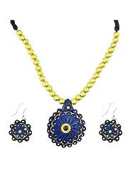 "ARTWOOD ""Aquamarine Pearl Beauty"" 3-piece TerraCotta Jewellery Set"