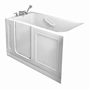 American Standard 3060.104.WRW 30-Inch By 60-Inch Whirlpool Gelcoat Walk-In Bath with Quick Drain, White, Right Hand