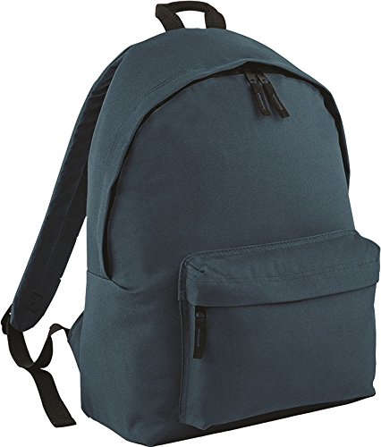 BagBase-Zaino New-Borsa a tracolla, per la scuola, con zaino, capacità: 18 litri Fuchsia/Graphite Grey