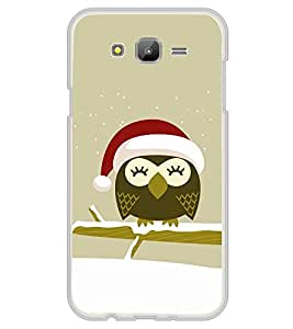 Cute Owl with Santa Cap 2D Hard Polycarbonate Designer Back Case Cover for Samsung Galaxy J5 (2015 Old Model) :: Samsung Galaxy J5 Duos :: Samsung Galaxy J5 J500F :: Samsung Galaxy J5 J500FN J500G J500Y J500M