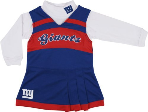 New York Giants Girls 7-16 Royal Jumper & Turtleneck Set