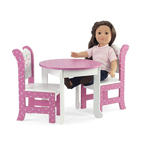 18 Inch Doll Furniture Fits American Girl Dolls 18 Wish Crown Table And Chairs 718122904662