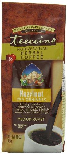 Teeccino Herbal Coffee, Mediterranean Hazelnut, Caffeine-Free 11-Ounce Bags (Pack of 3)