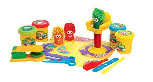 VeggieTales Oh Where Is My Hairbrush Veggie Dough Play Set